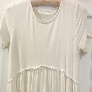 Pinkblush Ivory Crochet Trim Dress